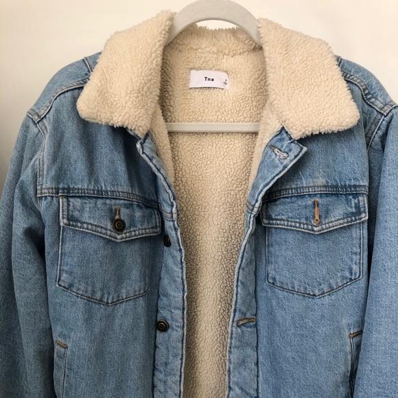 Tna aritzia lined jean jacket